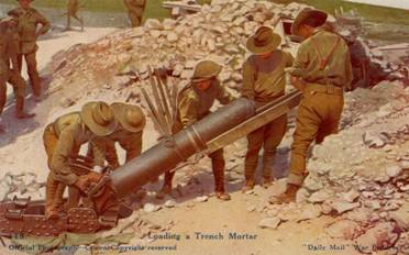Trench mortar team