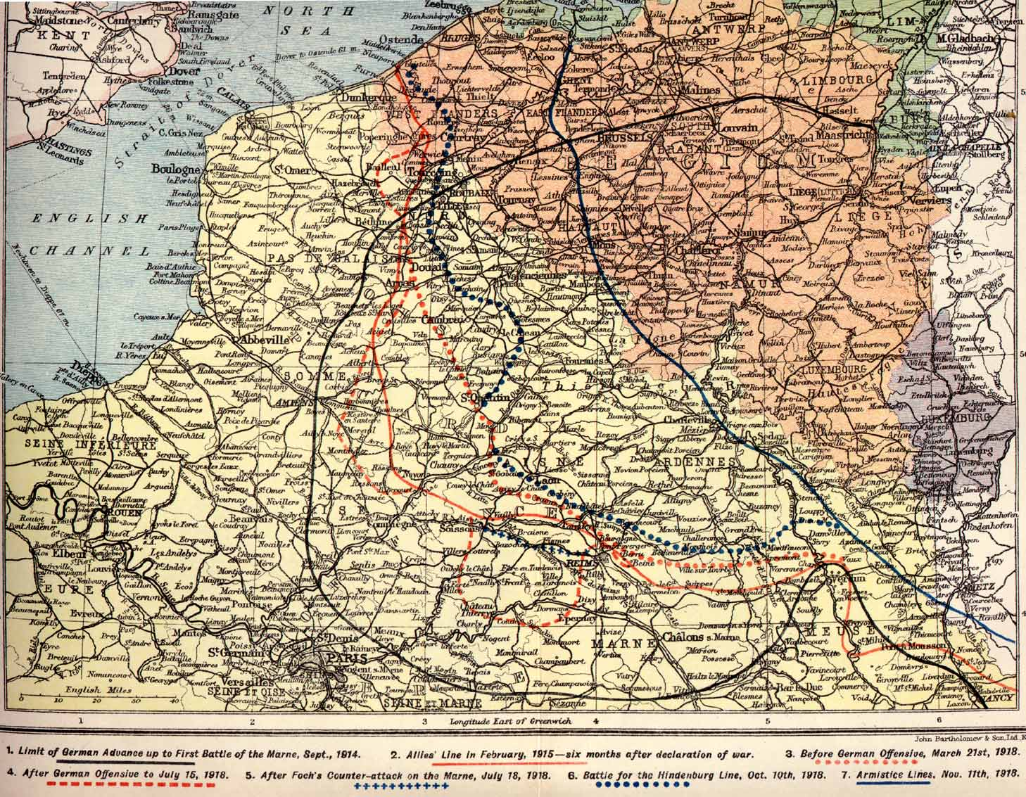 Campaign and battle maps for the British Army, 1914-1918 ...