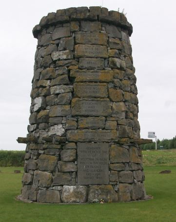 This tall stone cairn memorial to the 9th (Scottish) Division stands on the Point du Jour ridge east of Arras
