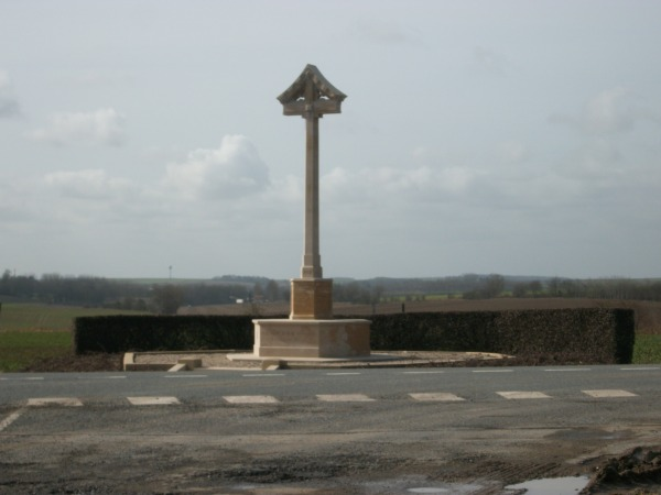 The memorial to the 12th (Eastern) Division near Malassise Farm, Epehy