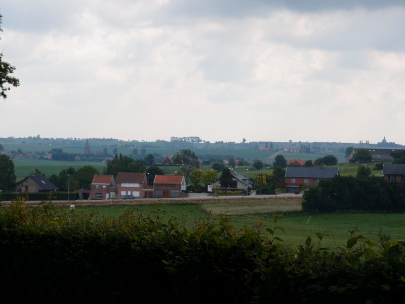 A view of the Messines ridge, seen from Nuve Eglise (Nieuwkerke) withWuvergem in the middle distance. Scene of iintensive fighting throughout the great war and the explosion of 19 huge underground mines on 7 June 1917. Now a peaceful but evocative scene.