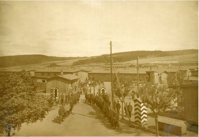 A photograpg of the POW camp at Hameln, taken by camp director Richard Bochalli. This image is from the Europeana collection submitted by Dr. Ulrich Siegers und Rudolf Siegers and is reproduced here under Creative Commons Licence, with my thanks