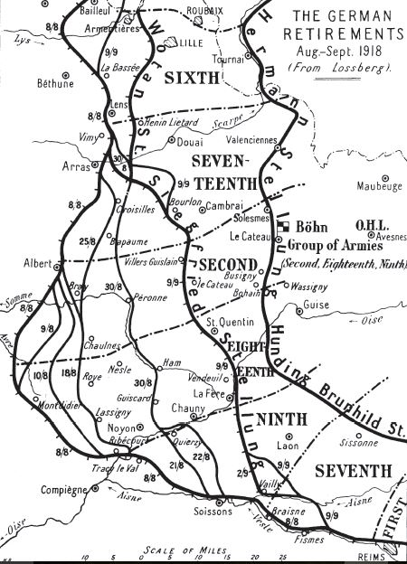 Map Of Saint Quentin France.The Battles Of The Hindenburg Line The Long Long Trail