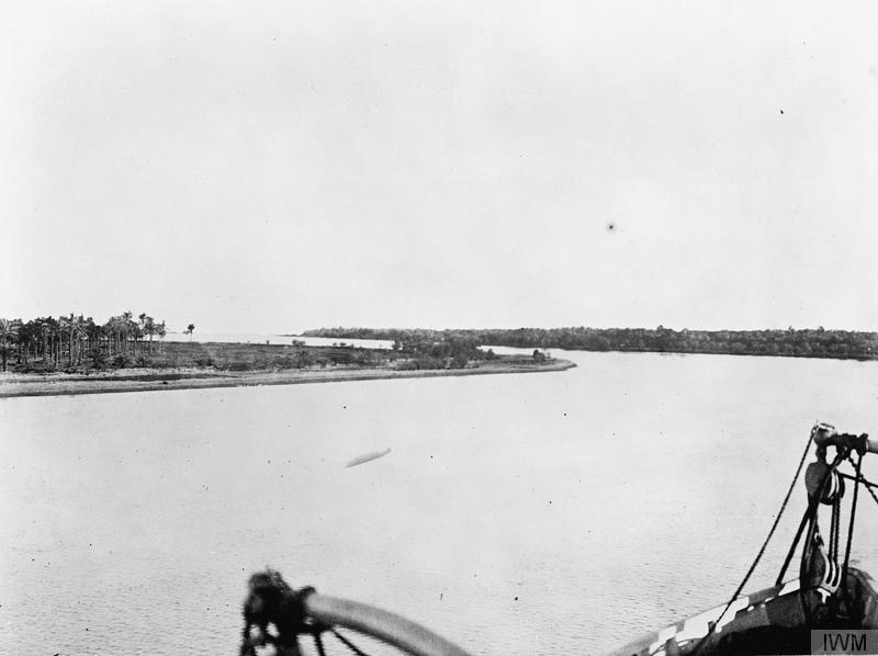 View of the River Tigris at Qurna. Imperial War Museum image Q25668