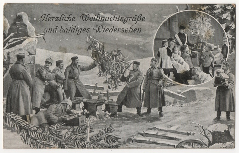 This wonderful German Christmas field postcard is copied from material submitted to Europeana by Andreas Schuppe, with thanks
