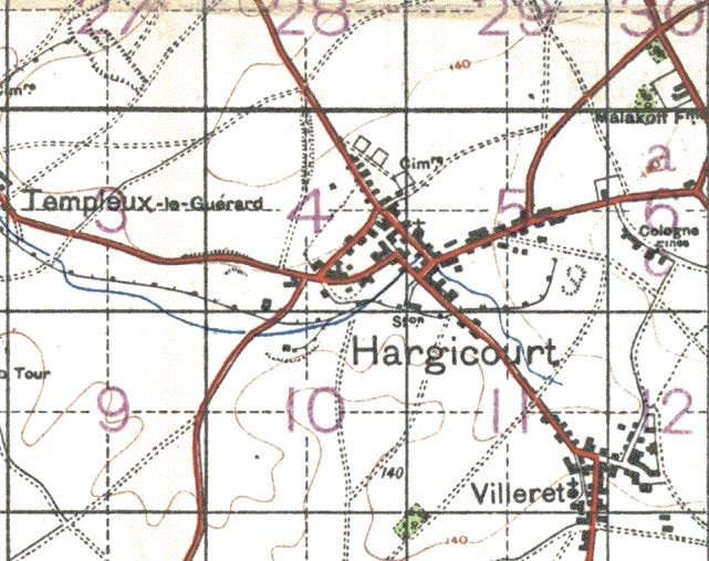 A 1916 British map of the area.