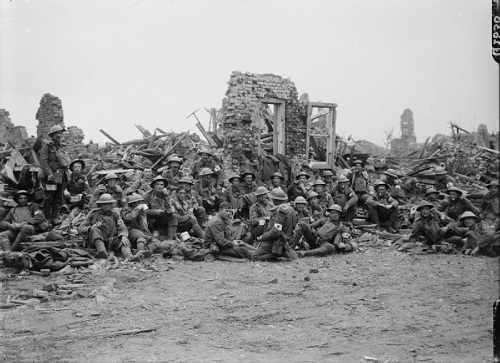 In the first phase of the Third Battle of Ypres, officially known as the Battle of Pilckem Ridge.  British stretcher bearers in the ruins of Pilckem on 31 July 1917. From the Ministry of Information First World War Official Collection at the Imperial War Museum, copyright image Q2630,with my thanks.
