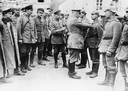 German soldiers are awarded the Iron Cross on 17 November 1914. Image Q  53414 from the Sport & General Press Agency collection held by the Imperial War Museum, with my thanks.
