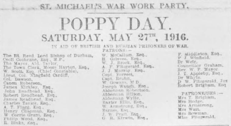 "The ""Shields Daily Gazette"" ran this article on 8 May 1916."