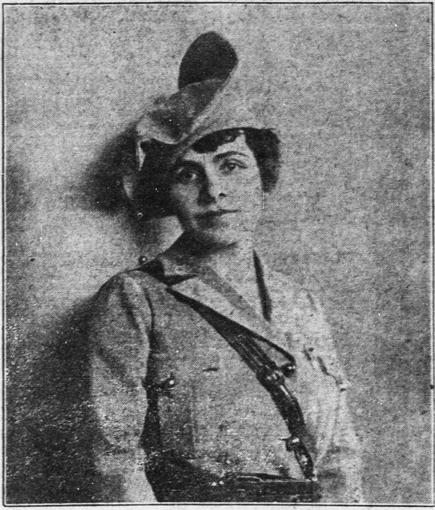 Madame Guérin. Edited from the 12 June 1918 edition of the Wichita Daily Eagle, Wichita, Kansas, page Page 5. With thanks to https://poppyladymadameguerin.wordpress.com/ for this image.