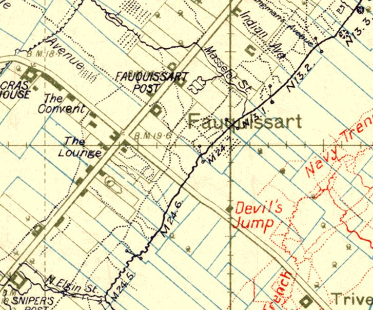 TRENCH MAP OF LAVENTIE